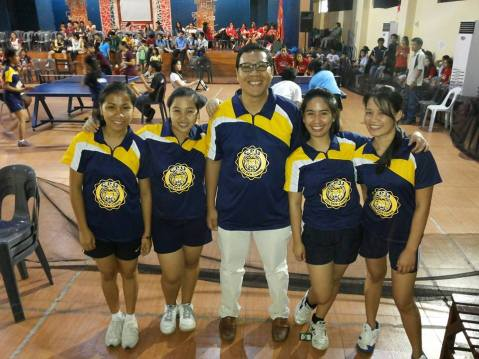 Unbeatable CPU Table Tennis Women and Coach Francis Neil Jalando-on