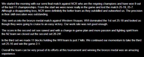 CPU Volleyball Team battles NZ team
